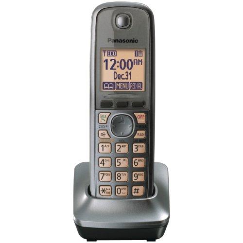(Panasonic KX-TGA410M Extra Handset for 4130 Series Cordless Phones, Metallic Gray)