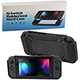 Nintendo Switch Shock Resistant Heavy Duty Slim Fit Snap On Hard Case Cover Black Color Rubber Case