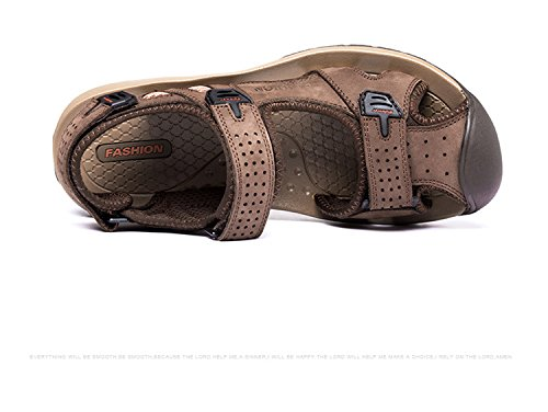 Gaorui Herren Sport Outdoor Sandale Trekkingsandale & Wanderschuhe aus Syntheseleder 3 Farben