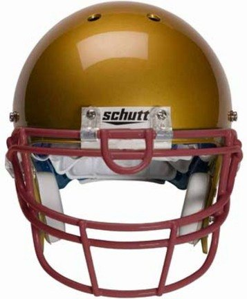 Schutt Maroon Reinforced Oral Protection (ROPO-UB) Full Cage Football Helmet Face Guard from