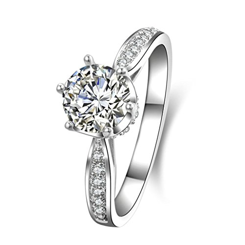[(Engagement Rings)Adisaer Silver Rings for Women Wedding Bands Cubic Zirconia Crown Size 5] (Gold Antler Crown)