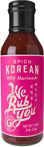 We Rub You Spicy Korean Barbeque Marinade, 15 Ounce - 6 per case.