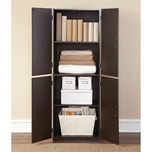 Marvelous Amazon.com: Mainstays Tall Storage Cabinet, 4 Door (Cinnamon Cherry): Home  U0026 Kitchen
