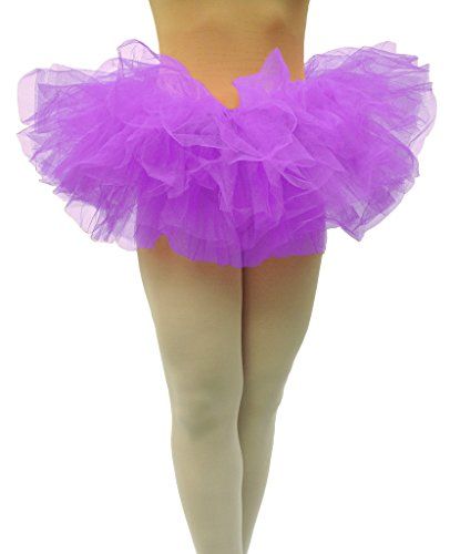 Dancina Tutu Women's Cute Organza Petticoat for 5k 10k Fun Dash Color Run Events Short 10