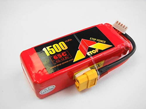 LiPo 14.8V-1500mAh((65C) E-Top Powerリポバッテリー(XT60付き)