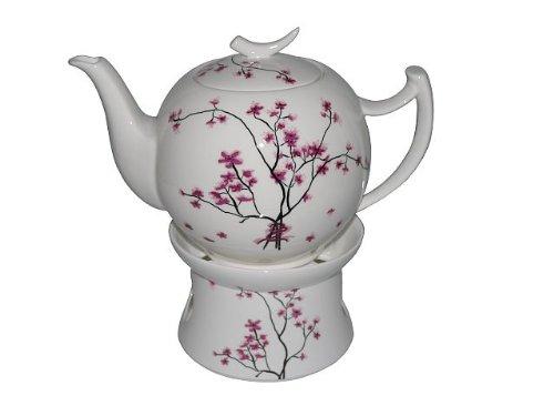 Teekanne Porzellan Mit Stövchen tealogic cherry blossom 1l teekanne mit stövchen amazon de küche