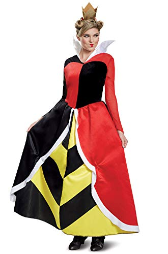 Disguise Women's Plus Size Queen of Hearts Deluxe Adult Costume, red XL (18-20) ()