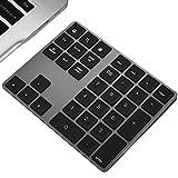 Wireless Numeric Keypad, JOYEKY Aluminum BT Number Pad 34-Keys...