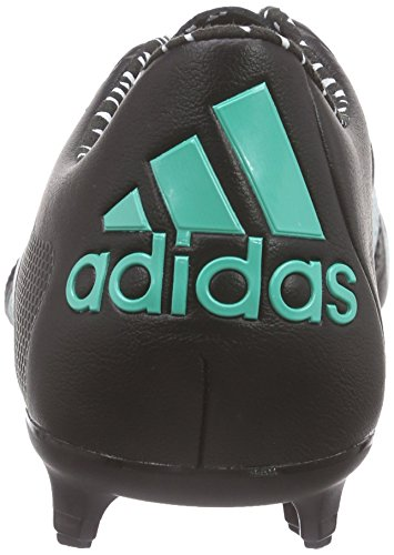 adidas Herren X 15.1 FG/AG Leather Fußballschuhe Schwarz (Core Black/Shock Mint S16/Ftwr White)