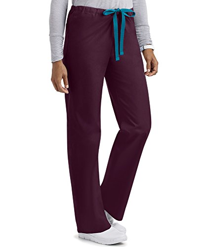 Unisex Reversible Scrub Pant/Medical Drawstring Pant (XS-3X, 6 Colors) (X-Large, - Reversible Cotton Pants Scrub