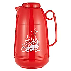 Retage Glass Liner Thermos Flask, Red - 1 Liter