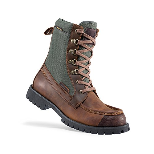 Browning Mens Upland Hunting Boots, Featherweight, Potting Soil/Forest Night, Genuine Leather, Size 10.5 (Leather Hunting Boots)