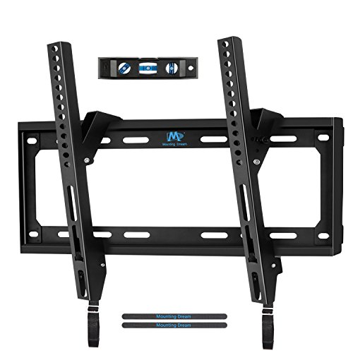 Mounting Dream MD2268-MK TV Wall Mount Tilting Bracket for Most 26-55 Inch LED, LCD and Plasma TVs up to VESA 400 x 400mm and 88 LBS Loading Capacity, with Torpedo Level by Mounting Dream