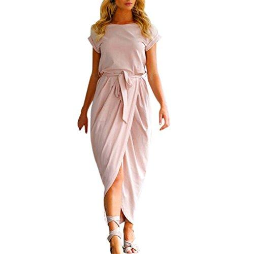 Robe De Soirée Mode De Rose Des Femmes Haoricu
