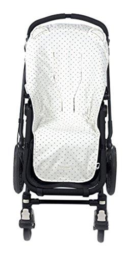 Pasito a pasito 73475 - Funda silla universal para verano, diseño oso, color gris normandie