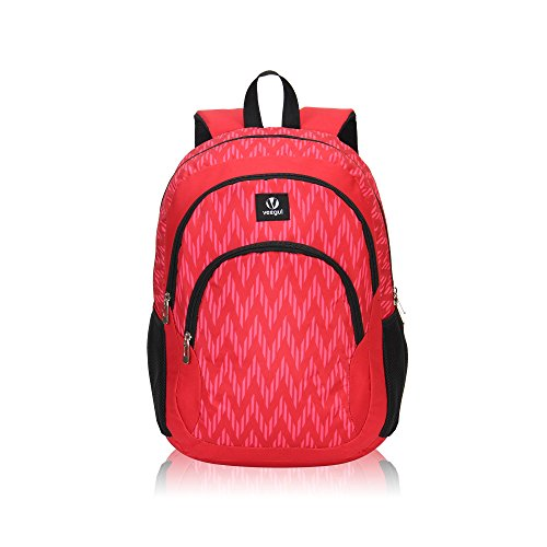 Veegul Cool Backpack Kids Sturdy Schoolbags Back to School Backpack for Boys Girls,Red by Veegul (Image #1)