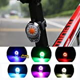 COOLOH Yannuo Trading 6-Modes 100 Lumen LED Bike Rear Tail Light Lamp USB Rechargeable Warming Light, Seatpost Rear Light Bicycle LED Lamp Easy to Install for Cycling Safety Flashlight