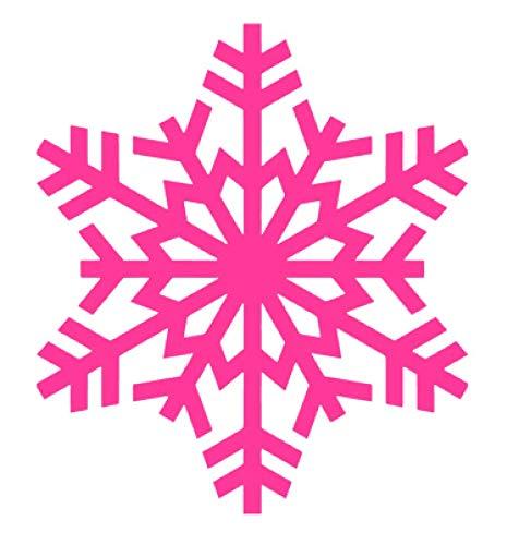 Christmas Snowflake Cute Vinyl Sticker Decals for Car Bumper Window MacBook Laptop [Pink, 4