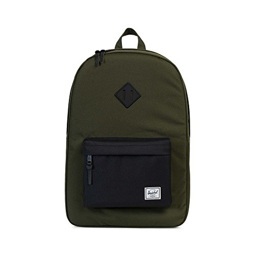 Herschel Supply Co. Heritage, Forest Night Black Rubber -