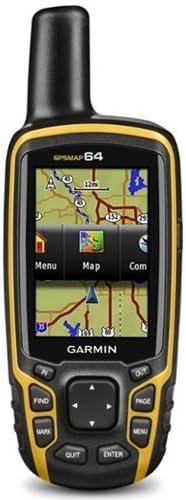 Garmin Map 64-Navigador GPS, Multicolor, Negro/Naranja