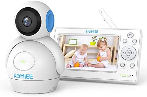 Baby Monitor, HOMIEE 720P Video Monitor with Audio, 5