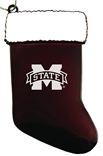 Mississippi Ornament State Holiday Bulldogs (Mississippi State University - Chirstmas Holiday Stocking Ornament - Burgundy)