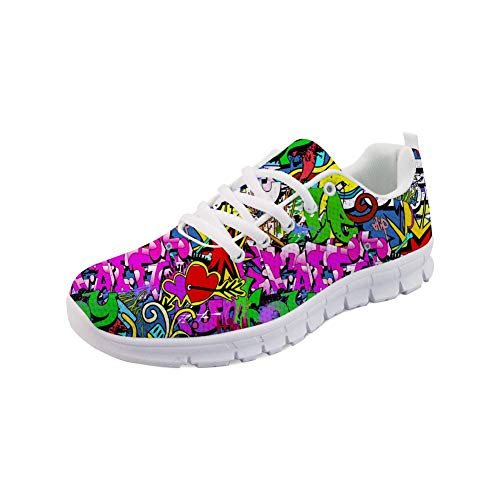 RSHSJCZZY Women's 3D Pattern Breathable Sport Running Shoes Outdoor Travel Comfortable Sneaker Graffiti 29]()