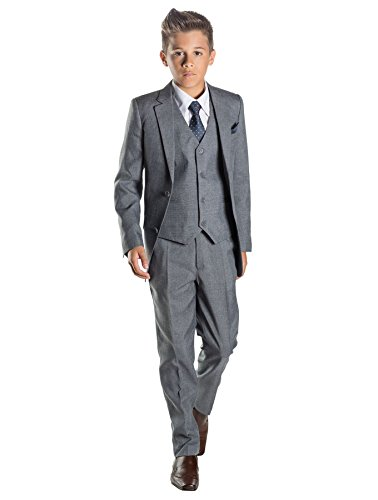 Paisley of London Boys Grey Ring Bearer Suit, 8 ()