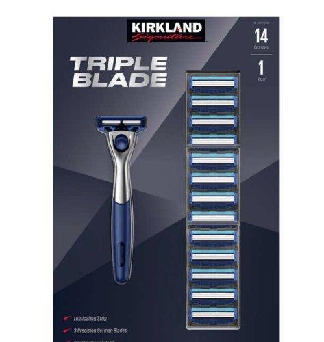 American Diamond Blades - Kirkland Signature Triple Blade Razor 14-count
