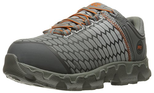 Timberland PRO Women's Powertrain Sport Alloy Toe SD+ Industrial and Construction Shoe, Grey Synthetic/Orange, 8.5 W US by Timberland PRO