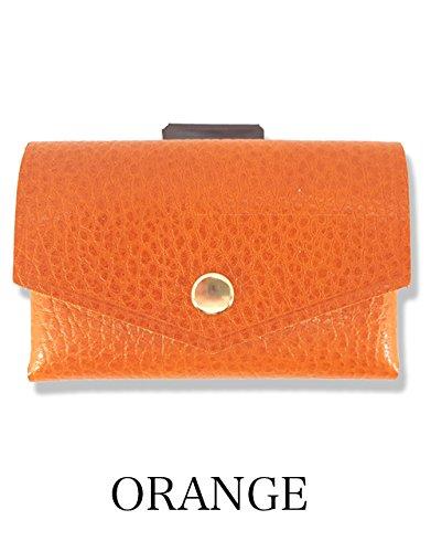 [com-ono] 【TINY-001】 革製品に異素材であるゴムを使用した、今までにない発想から生まれた次世代のミニマムウォレット B07DC9VPMQ オレンジ オレンジ