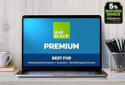 H&R Block Online 2018, Premium [Web Portal Access] + 5% Refund Bonus