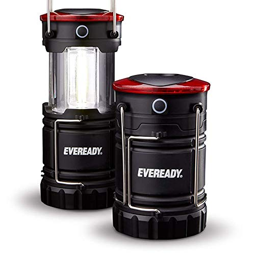 Eveready 360 LED Camping Lantern, IPX4 Water Resistant, Super Bright, 100 Hour Run-time, Battery Powered Outdoor LED…