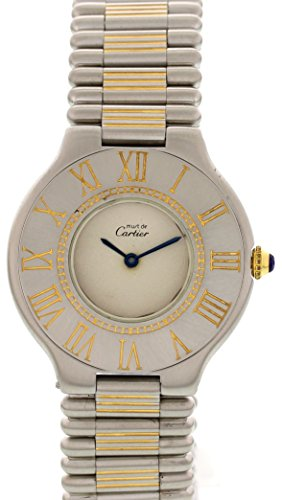 Price comparison product image Cartier Must 21 swiss-quartz mens Watch NA (Certified Pre-owned)