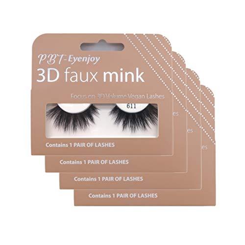 PBTLash Korean silk 3D faux mink eyelashes-611 (4 pack