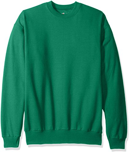 Hanes Men's EcoSmart Fleece Sweatshirt, Kelly Green, Medium -