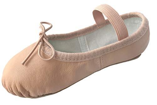 Dancina Premium Leather Ballet Slipper/Ballet Shoes Full Sole (Toddler/Little Kid)