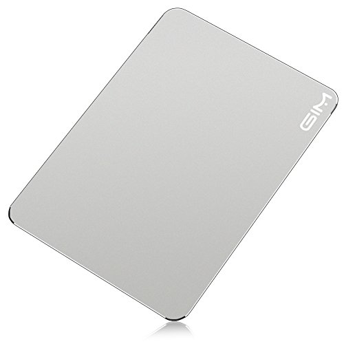 GIM Waterproof Aluminium Gaming Mouse Pad / Mat with Non-slip Rubber Base & Micro Sand Blasting Aluminium Surface for Fast and Accurate Control 9.45 x 6.69 inch (Silver-S) by Leadpo