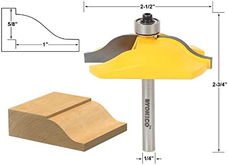 """3-1//4/"""" Micro-grain Carbide Ogee Raised Panel Router Bit 1//2/"""" Shank High Quality"""