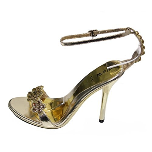UK femme amp; Wear Walk Sandales doré gold pour silver brown red Or EXEqda