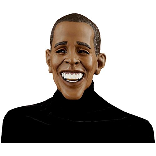 Scarry Mask (Deluxe Barack Obama Mask Costume Accessory)