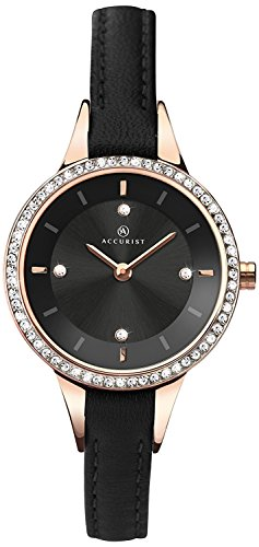 Accurist Women's Quartz Watch with Analogue Display and Leather Strap