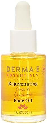 DERMA E Rejuvenating Sage & Lavender Face Oil, 1oz