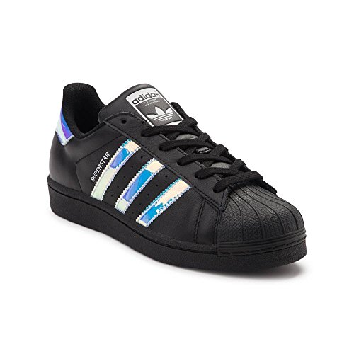 Adidas Originalals Dames Superstar W Fashion Sneaker (heren 5 / Womens 7, Black Lenticular 6289)