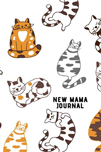 New Mama Journal - for cat loving mums to be: Breastfeeding log book - the ideal gift idea for new mothers, baby showers etc.