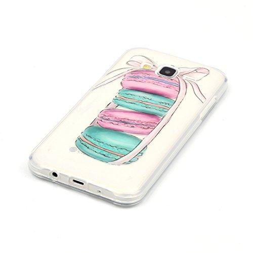 para Samsung Galaxy J710(2016), Diseño Creativo Transparente Suave TPU Silicona Bumper Ultra Delgado Ultrafina Goma Carcasa Flexible Ligero Gel Anti-Arañazos Case ,para Samsung Galaxy J710 (2016) + Pl image-1