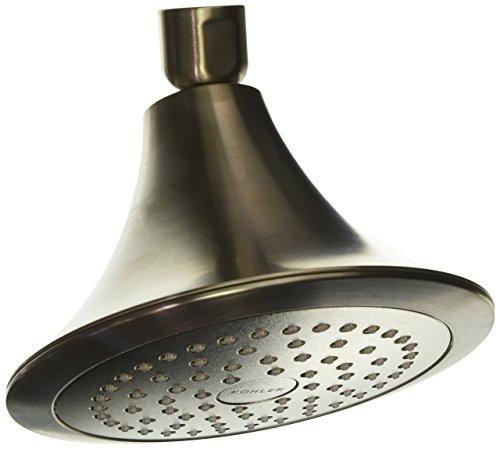 (Kohler K-R10282-E-BN Forte Single-Function Showerhead, Vibrant Brushed)