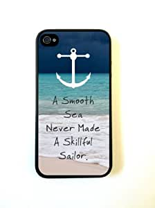 Beach Anchor Smooth Sea Silicone Case Protective for iPhone 4/4s Case by runtopwell