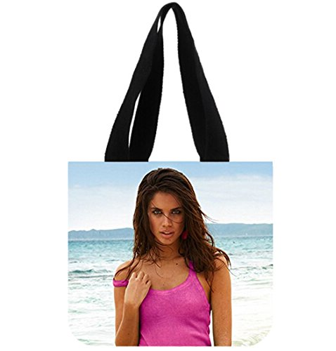 Custom Sara Sampaio Canvas Tote Bag Reusable Shopping Bag  2 Sides
