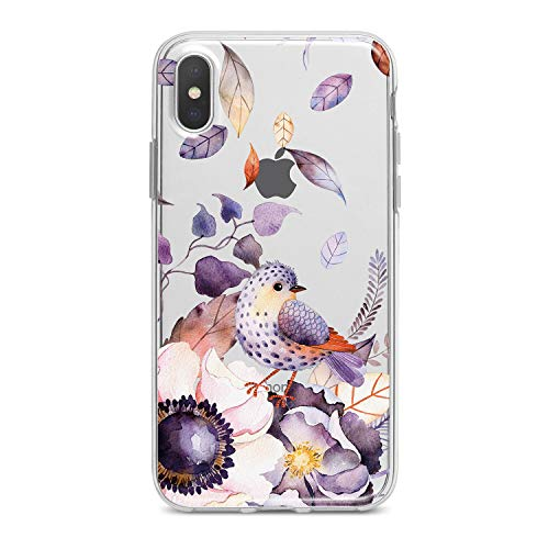 Lex Altern TPU iPhone Apple Cases Xs Max Xr 10 X 8 Plus 7 6s 6 SE 5s 5 Bird Flower Clear Phone Cover Colorful Floral Print Protective Pattern Girl Design Women Transparent Flexible Silicone Modern -